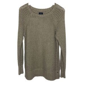 American Eagle   Jegging Sweater Chunky Knit Olive